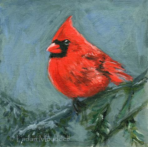 painting birds acrylic cardinal bird print of acrylic painting painting is my