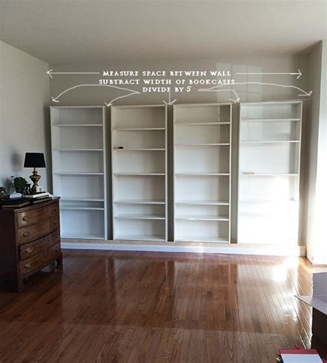 how to build diy built in bookcases from ikea billy