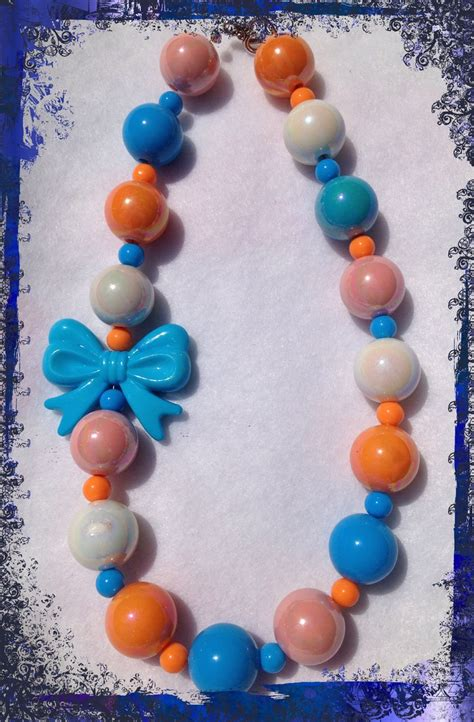 chunky bubblegum chunky bubblegum bead necklace