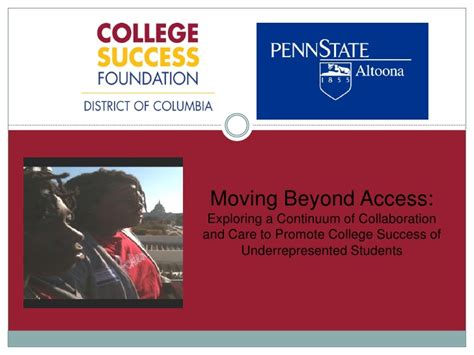 exploring leadership for college students who want to make a difference moving beyond access exploring a continuum of