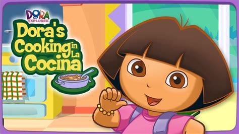 dora la exploradora en la cocina con su papa divertidos - Juegos De Dora Cocinando Con Su Papa