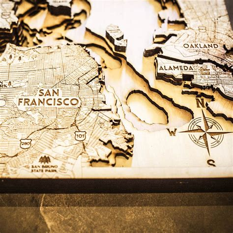 woodworking san francisco san francisco ca 3d wood map on tahoe time