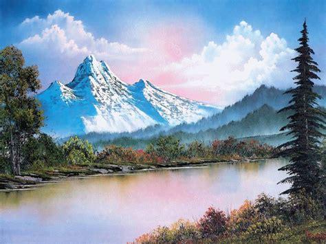 bob ross painting light peinture de bob ross