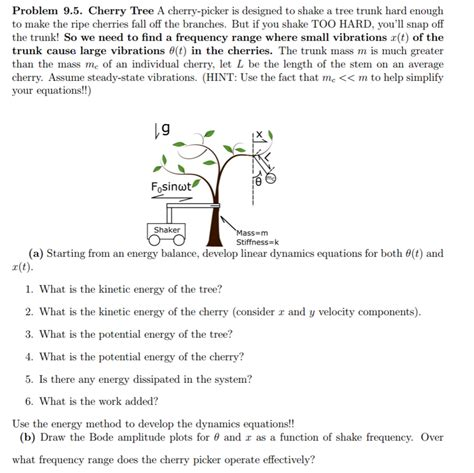 solved cherry tree a cherry picker is designed to shake a chegg