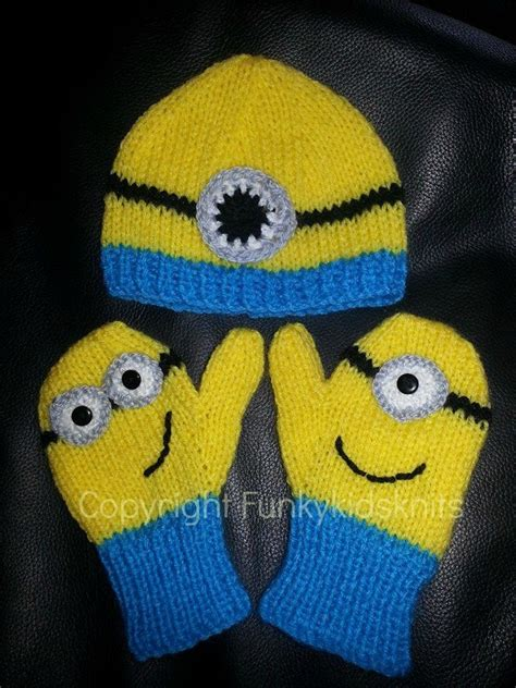 how to knit minions knitted minion hat and mitten set www