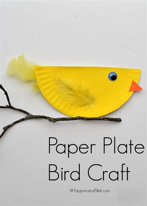 bird paper plate craft paper plate bird and easy kid s craft tutorial