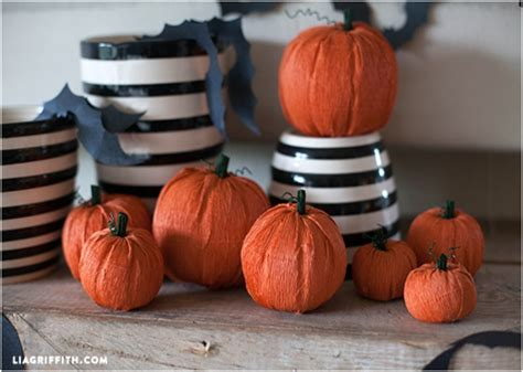 paper pumpkin crafts 10 lovely fall diy decorations with faux pumpkins