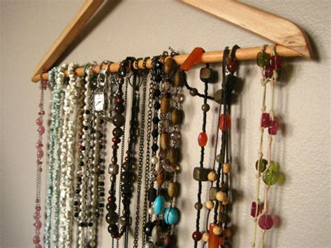how to make jewelry hanger clothes hanger jewelry organizer