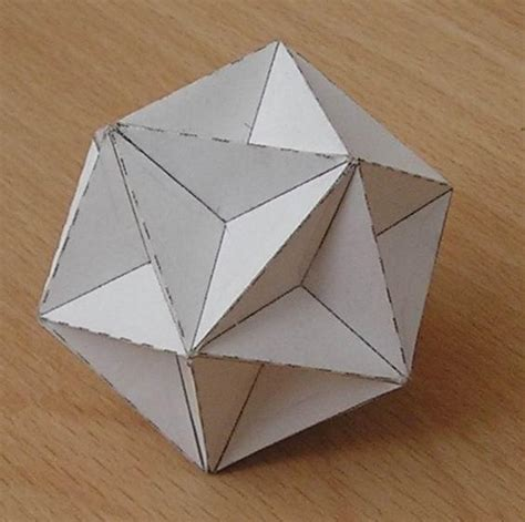 how to make origami 3d shapes paper great dodecahedron