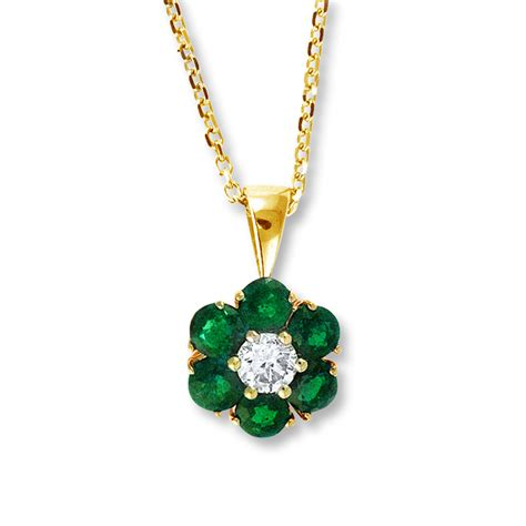 emerald necklace jared emerald necklace 1 8 ct 14k yellow