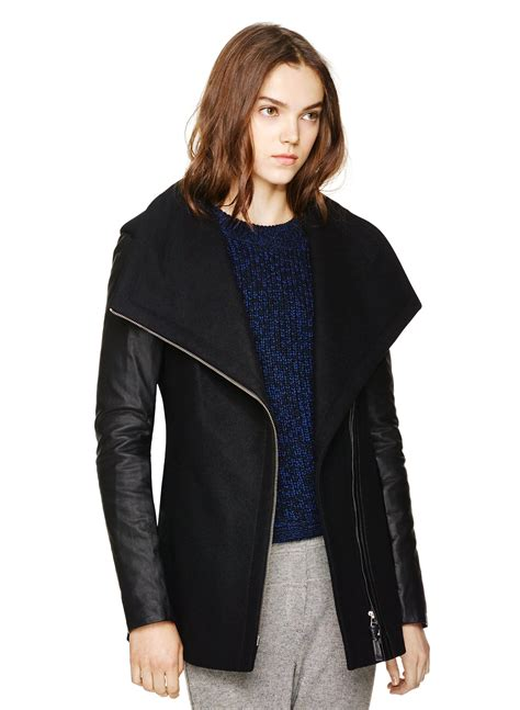 leather sleeve blazer leather sleeved jackets for fall and winter sparkleshinylove