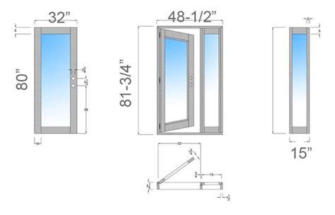 exterior doors sizes exterior door size