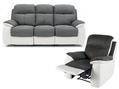 ensemble canap 233 fauteuil de relaxation white conforama pickture