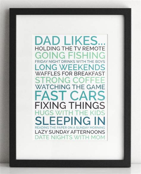stuff to make for gift personalized gift poster of things your likes