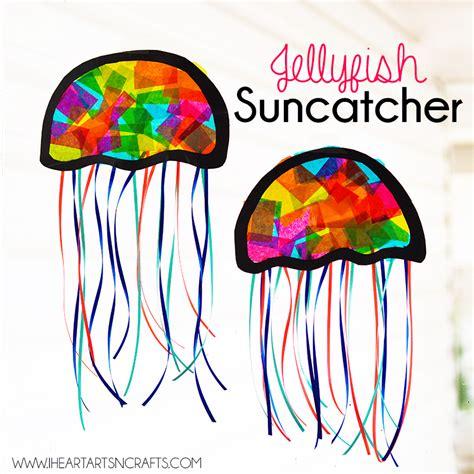 suncatcher craft for suncatcher jellyfish craft i arts n crafts