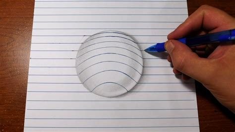 how to draw 3d how to draw 3d easy line paper trick