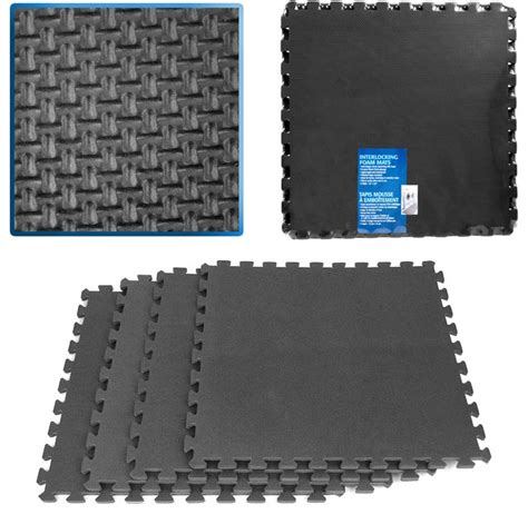 staples rubber st ultimate comfort blue foam flooring 16 square black