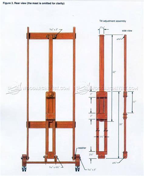 easel woodworking plans artist easel plans woodarchivist