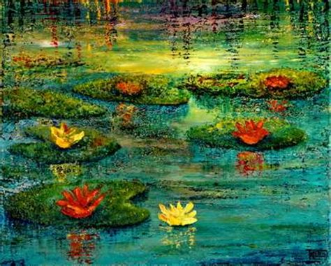 acrylic painting water lilies contest water lilies acrylic paintings only