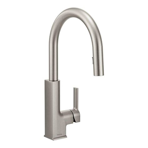 moen pull kitchen faucet moen sto single handle pull sprayer kitchen faucet with reflex in spot resist stainless