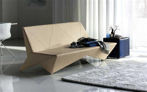 origami sofa origami modern leather sofa bed decobizz