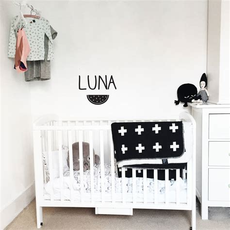 personalised name wall stickers personalised name wall sticker by clara