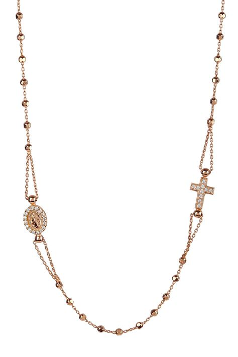 14k rosary savvy cie 14k gold plated sterling silver italian