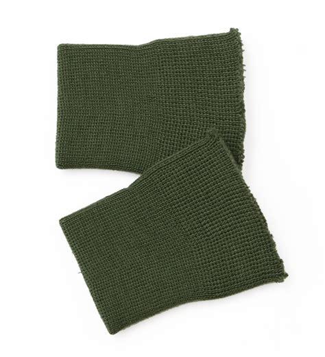 m o knits cuff knit wristlet 50s green greenish repro m o c