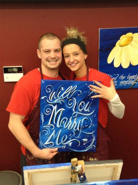 paint with a twist la marque 17 best images about pwat wedding proposals on