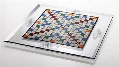 scrabble set swarovski adds bling to the 60 year scrabble