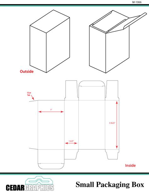 small packaging box template download adobe indesign
