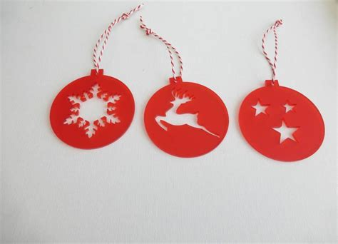 set of six acrylic decorations by edgeinspired
