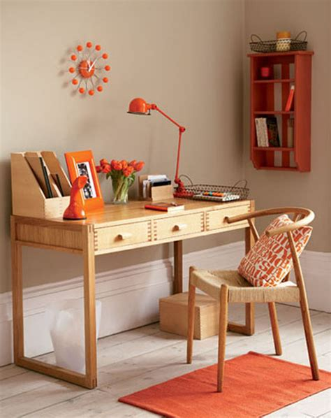 simple home office unique decoration simple home office orange accents