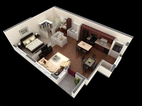 one bedroom flat designs 50 one 1 bedroom apartment house plans architecture
