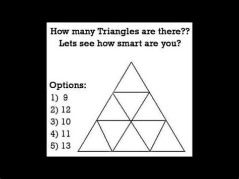 how many are there how many triangles are there lets see how smart are you