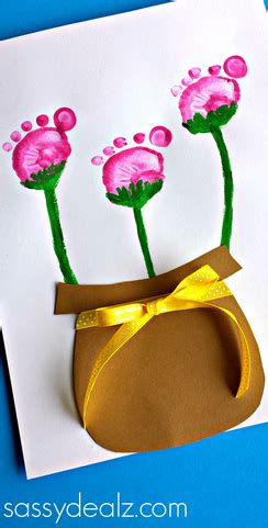 flower pot kid craft flower pot craft using kid s footprints crafty morning