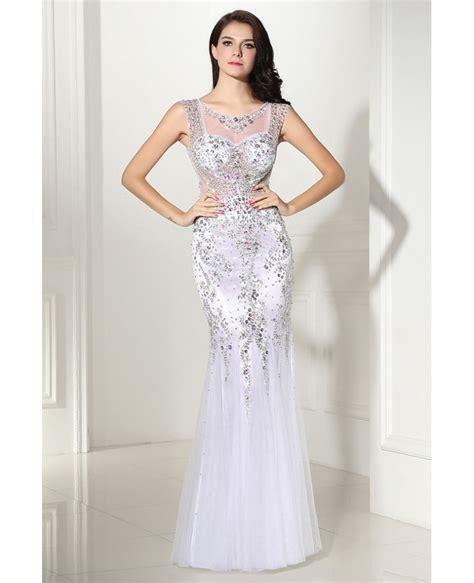 beaded mermaid prom dress luxury colorful beaded mermaid tulle prom dress