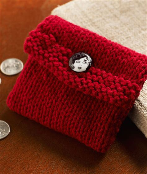 how to knit a purse knit change purse