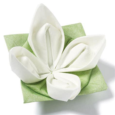 origami paper napkins seerose origami dinner napkins green white 40cm