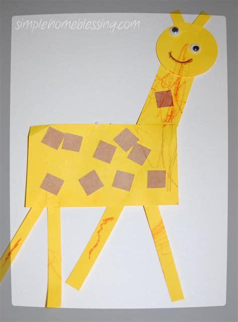 giraffe craft for toddler craft giraffe simple home blessings