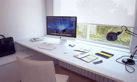 home built computer desk white built in bespoke desk interior design ideas
