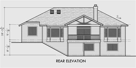 one story with basement house plans one story house plans daylight basement house plans side