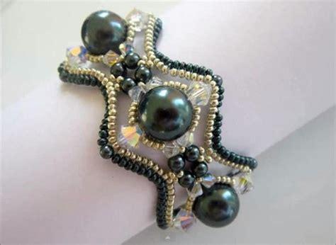 beaded bead tutorial beaded swarvoski pearl bracelet tutorial the beading gem