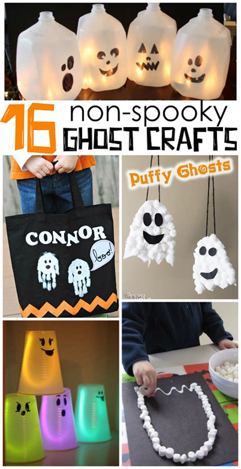 spooky crafts for non spooky ghost crafts for crafty morning