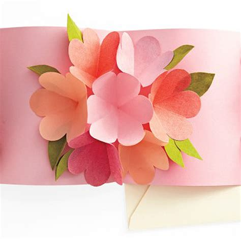 how to make a flower card a spoonful of sugar pop up flower card