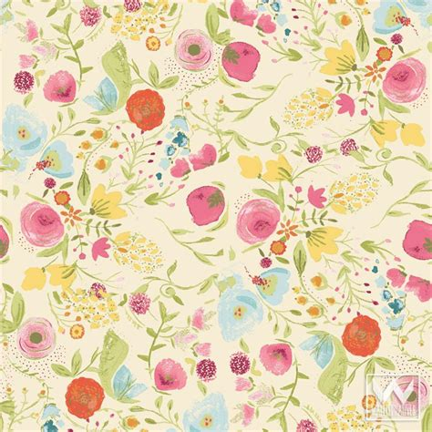 floral removable wallpaper floral removable wallpaper wallternatives