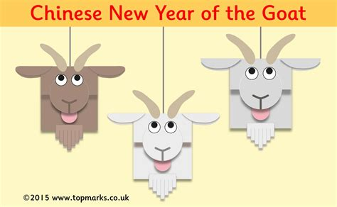 goat crafts for goat new year craft