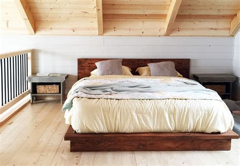 build bed white rustic modern 2x6 platform bed diy projects