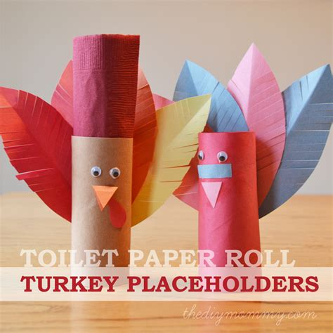toilet paper roll thanksgiving crafts make turkey placeholders from toilet paper rolls a kid s