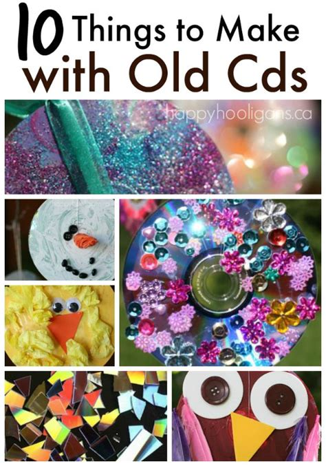 how to make and craft things for 10 terrific things to make with cds and dvds happy